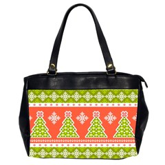 Christmas Tree Ugly Sweater Pattern Office Handbags (2 Sides)  by allthingseveryone