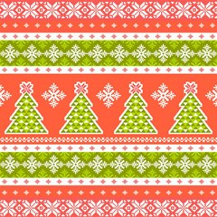 Christmas Tree Ugly Sweater Pattern Magic Photo Cubes by allthingseveryone