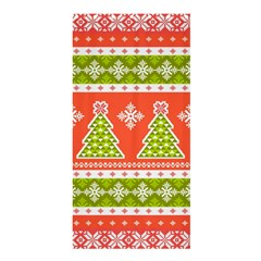 Christmas Tree Ugly Sweater Pattern Shower Curtain 36  X 72  (stall)  by allthingseveryone
