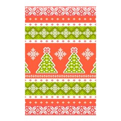 Christmas Tree Ugly Sweater Pattern Shower Curtain 48  X 72  (small)  by allthingseveryone