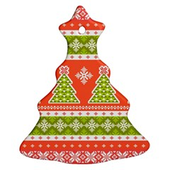 Christmas Tree Ugly Sweater Pattern Christmas Tree Ornament (two Sides) by AllThingsEveryone