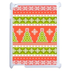 Christmas Tree Ugly Sweater Pattern Apple Ipad 2 Case (white) by allthingseveryone