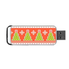Christmas Tree Ugly Sweater Pattern Portable Usb Flash (one Side) by allthingseveryone