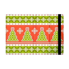 Christmas Tree Ugly Sweater Pattern Apple Ipad Mini Flip Case by allthingseveryone
