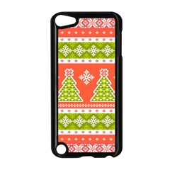 Christmas Tree Ugly Sweater Pattern Apple Ipod Touch 5 Case (black) by allthingseveryone