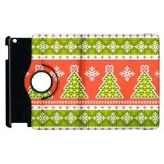 Christmas Tree Ugly Sweater Pattern Apple Ipad 3/4 Flip 360 Case by allthingseveryone