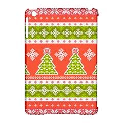 Christmas Tree Ugly Sweater Pattern Apple Ipad Mini Hardshell Case (compatible With Smart Cover) by allthingseveryone