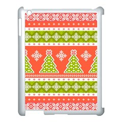 Christmas Tree Ugly Sweater Pattern Apple Ipad 3/4 Case (white) by allthingseveryone