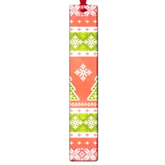 Christmas Tree Ugly Sweater Pattern Large Book Marks by AllThingsEveryone