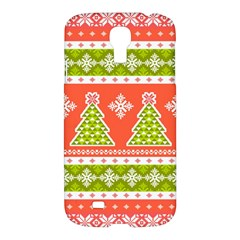 Christmas Tree Ugly Sweater Pattern Samsung Galaxy S4 I9500/i9505 Hardshell Case by allthingseveryone