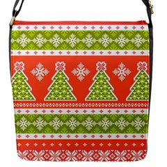 Christmas Tree Ugly Sweater Pattern Flap Messenger Bag (s) by AllThingsEveryone