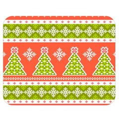 Christmas Tree Ugly Sweater Pattern Double Sided Flano Blanket (medium)  by allthingseveryone