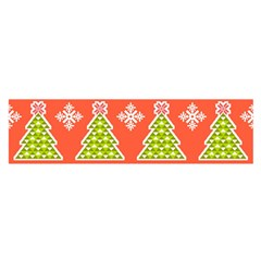 Christmas Tree Ugly Sweater Pattern Satin Scarf (oblong) by AllThingsEveryone