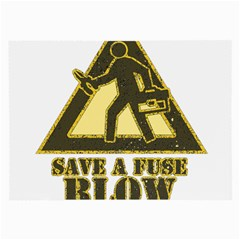 Save A Fuse Blow An Electrician Large Glasses Cloth (2 Side) by FunnyShirtsAndStuff