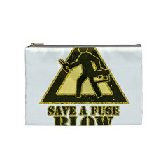 Save A Fuse Blow An Electrician Cosmetic Bag (medium)  by FunnyShirtsAndStuff