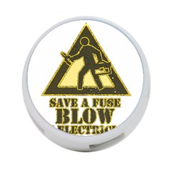 Save A Fuse Blow An Electrician 4 Port Usb Hub (one Side) by FunnyShirtsAndStuff