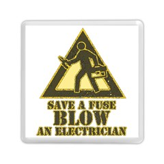 Save A Fuse Blow An Electrician Memory Card Reader (square)  by FunnyShirtsAndStuff