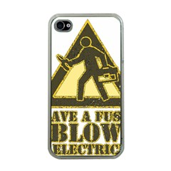 Save A Fuse Blow An Electrician Apple Iphone 4 Case (clear) by FunnyShirtsAndStuff