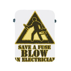 Save A Fuse Blow An Electrician Apple Ipad 2/3/4 Protective Soft Cases by FunnyShirtsAndStuff