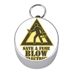 Save A Fuse Blow An Electrician Mini Silver Compasses