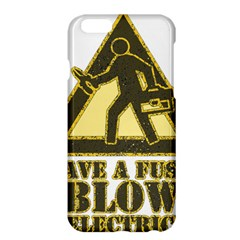 Save A Fuse Blow An Electrician Apple Iphone 6 Plus/6s Plus Hardshell Case by FunnyShirtsAndStuff