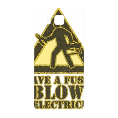 Save A Fuse Blow An Electrician Samsung Galaxy Alpha Hardshell Back Case by FunnyShirtsAndStuff