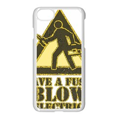 Save A Fuse Blow An Electrician Apple Iphone 7 Seamless Case (white) by FunnyShirtsAndStuff