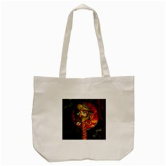 Funny Giraffe With Helmet Tote Bag (cream) by FantasyWorld7