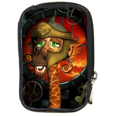 Funny Giraffe With Helmet Compact Camera Cases by FantasyWorld7