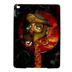 Funny Giraffe With Helmet Ipad Air 2 Hardshell Cases by FantasyWorld7