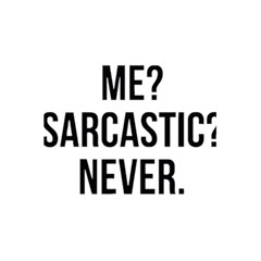 Me Sarcastic Never 5 5  X 8 5  Notebooks by FunnyShirtsAndStuff