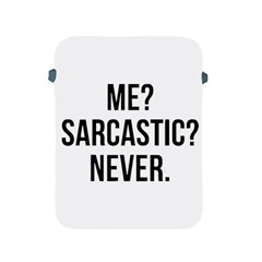 Me Sarcastic Never Apple Ipad 2/3/4 Protective Soft Cases by FunnyShirtsAndStuff