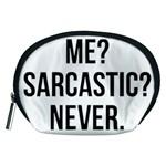 Me sarcastic never Accessory Pouches (Medium)  Front
