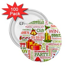 The Joys Of Christmas 2 25  Buttons (100 Pack)  by AllThingsEveryone