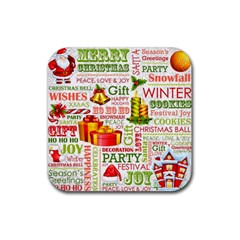 The Joys Of Christmas Rubber Coaster (square)  by AllThingsEveryone
