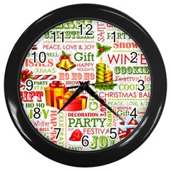 The Joys Of Christmas Wall Clocks (black) by AllThingsEveryone