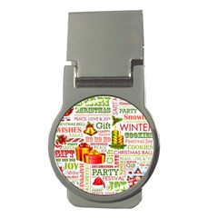 The Joys Of Christmas Money Clips (round)  by allthingseveryone