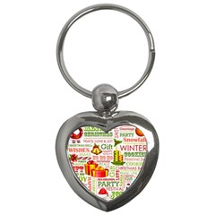 The Joys Of Christmas Key Chains (heart)  by allthingseveryone