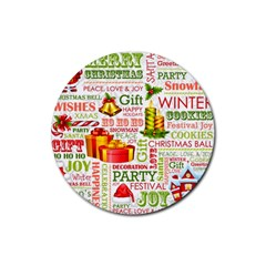 The Joys Of Christmas Rubber Coaster (round)  by AllThingsEveryone