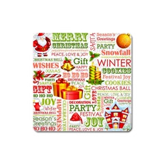 The Joys Of Christmas Square Magnet by AllThingsEveryone