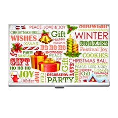 The Joys Of Christmas Business Card Holders by AllThingsEveryone