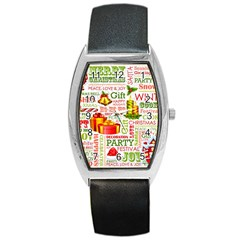 The Joys Of Christmas Barrel Style Metal Watch by AllThingsEveryone