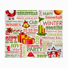 The Joys Of Christmas Small Glasses Cloth by allthingseveryone