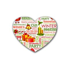 The Joys Of Christmas Heart Coaster (4 Pack)  by AllThingsEveryone