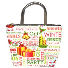 The Joys Of Christmas Bucket Bags by allthingseveryone