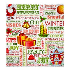 The Joys Of Christmas Shower Curtain 66  X 72  (large)  by allthingseveryone