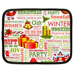 The Joys Of Christmas Netbook Case (xxl)  by AllThingsEveryone