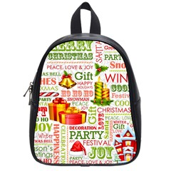 The Joys Of Christmas School Bag (small) by AllThingsEveryone