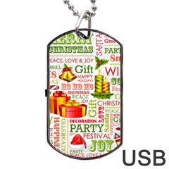 The Joys Of Christmas Dog Tag Usb Flash (two Sides) by allthingseveryone