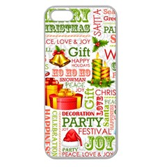The Joys Of Christmas Apple Seamless Iphone 5 Case (clear) by allthingseveryone